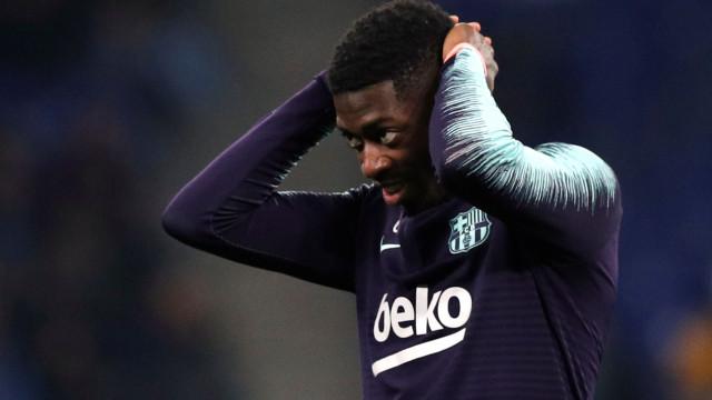 Barcelona multa Dembélé em mais de 100 mil euros