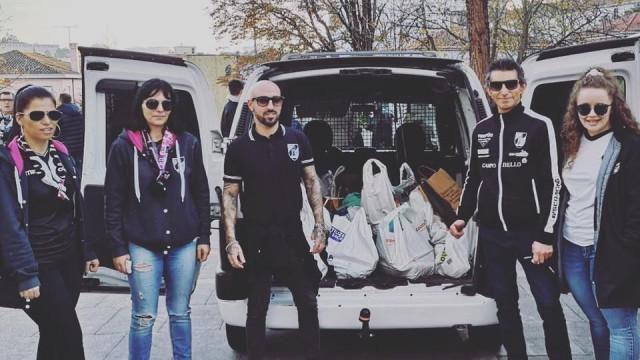 Vitória de Guimarães reúne oito toneladas de alimentos para solidariedade