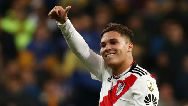 Quintero deliciado com a conquista da Libertadores
