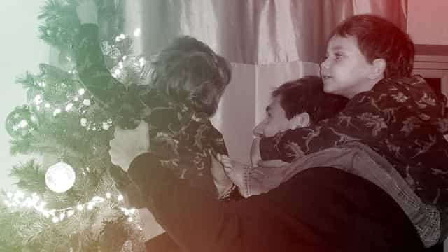 O espírito natalício já chegou a casa de Adrien Silva
