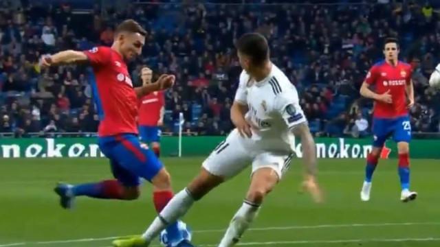O golo de Chalov que deixou gélido o Santiago Bernabéu