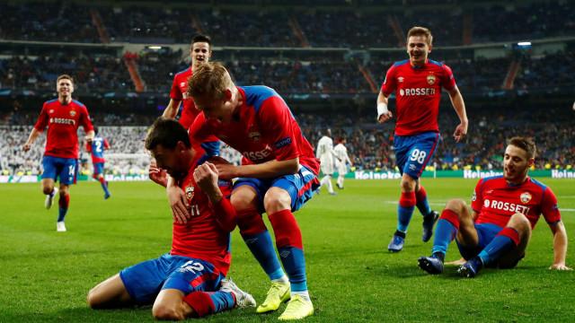 CSKA humilha Real Madrid mas está fora das competições europeias