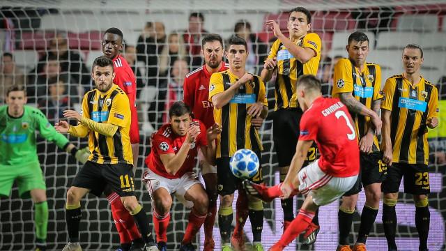 Benfica disse adeus à Champions e Grimaldo ficou na história