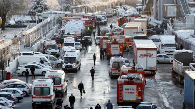 Balanço de mortos subiu para nove em acidente de comboio na Turquia