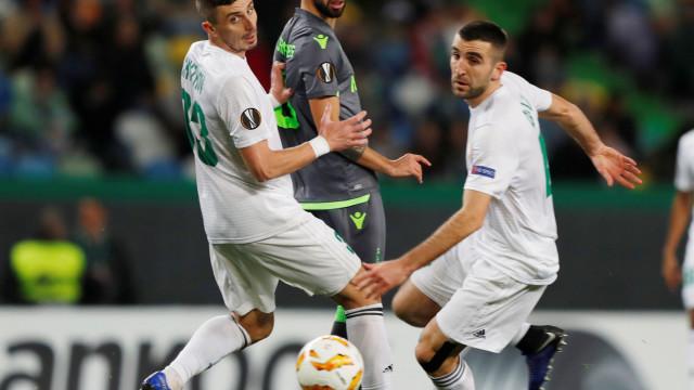 [2-0] Bruno Fernandes entrega a Miguel Luís o segundo golo do Sporting