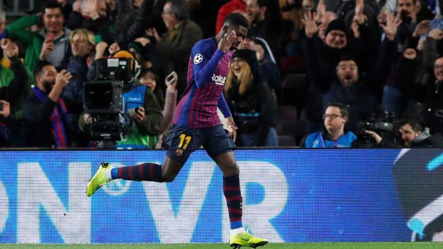 Champions: Golo de Dembélé frente ao Tottenham eleito o melhor da jornada