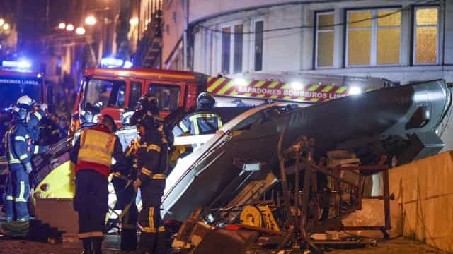 Descarrilamento de elétrico no centro de Lisboa provocou 28 feridos