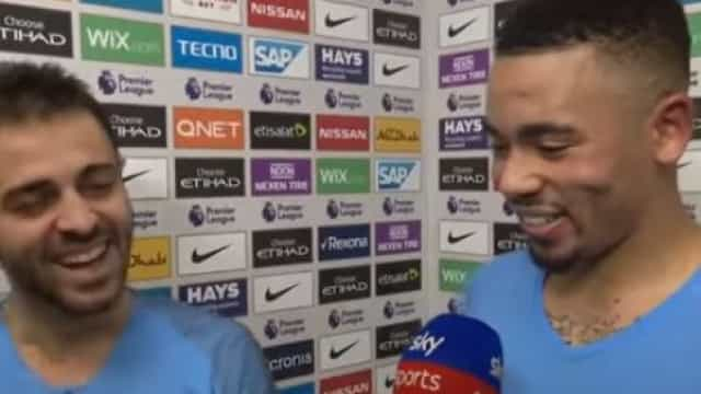 Bernardo Silva, Gabriel Jesus e uma divertida flash interview
