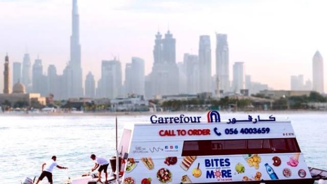 Já há supermercados flutuantes no Dubai