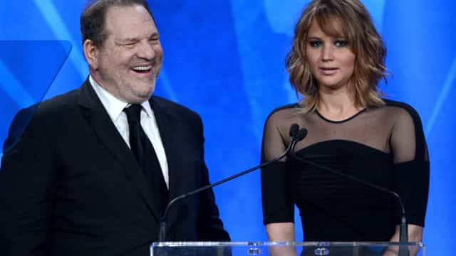 Jennifer Lawrence nega relacionamento sexual com Harvey Weinstein