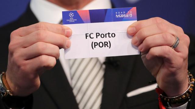 FC Porto contra AS Roma nos 'oitavos' da Champions