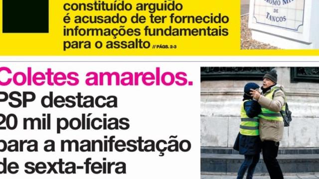"""Hoje é notícia: """"Militar denunciado por cabecilha"""" e """"CP impõe silêncio"""""""
