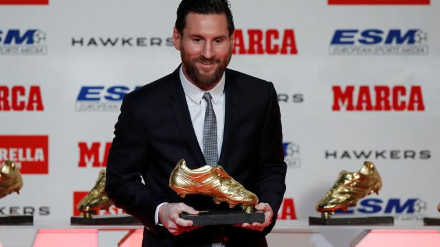 """Messi recebe (mais uma) Bota de Ouro: """"O meu sonho era ser profissional"""""""