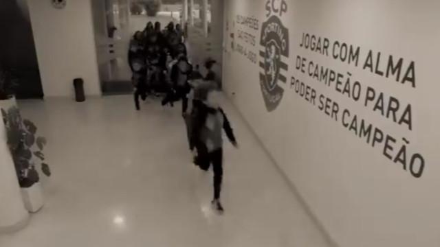 Academia Sporting volta a ser invadida... Desta vez, por crianças