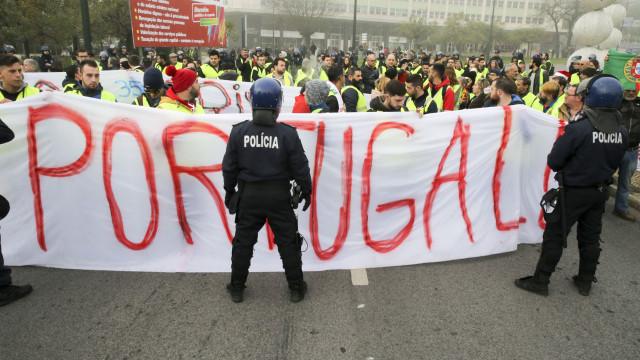 Segundo protesto dos coletes amarelos em Portugal com fraca adesão