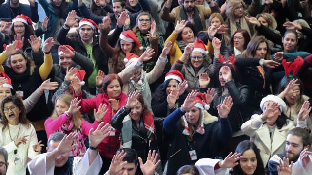 TAP convocou 'plantel de luxo' para cantar hino de Natal