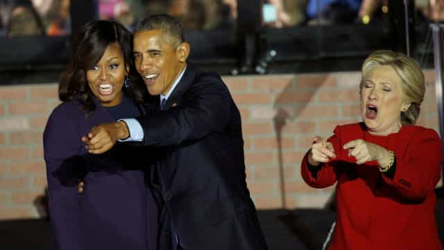 """Michelle pôs fim a hegemonia de Hillary como """"mulher mais admirada"""""""