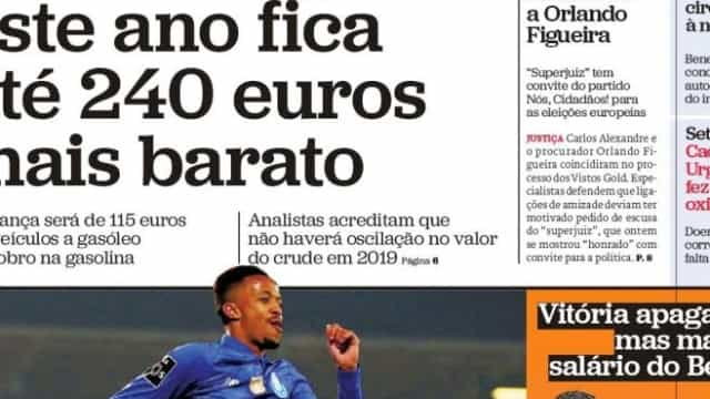Hoje é notícia: Atestar até 240 euros mais barato; Três subsídios num