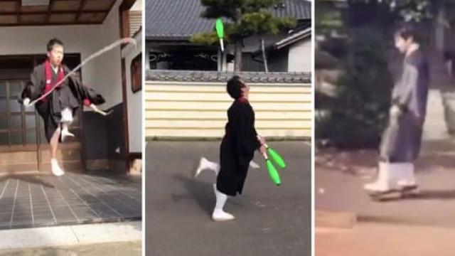 Monges andam de skate e saltam à corda para protestar contra multa