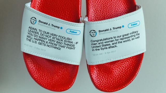 Colocou as contradições de Trump em chinelos. Esgotou stock num mês