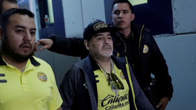 As primeiras palavras de Maradona após sair do hospital