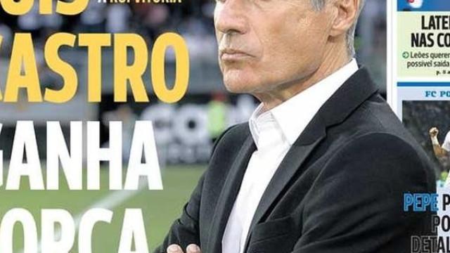 Por cá: Luís Castro ganha força e Pepe perto do Dragão