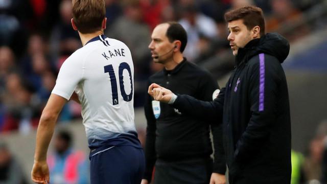 Kane entrou com equipa do Tottenham a golear e explicação é sublime