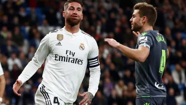 Real Madrid sofre nova derrota e Sergio Ramos atira-se ao VAR