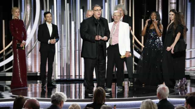 Nicole Kidman ignora Rami Malek no palco dos Globos de Ouro