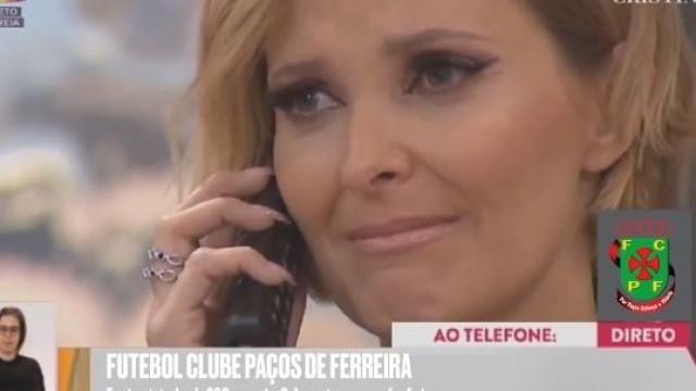 Paços de Ferreira também telefonou a... Cristina Ferreira