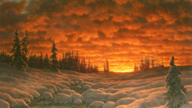 Quando as obras de arte retratam o frio do inverno