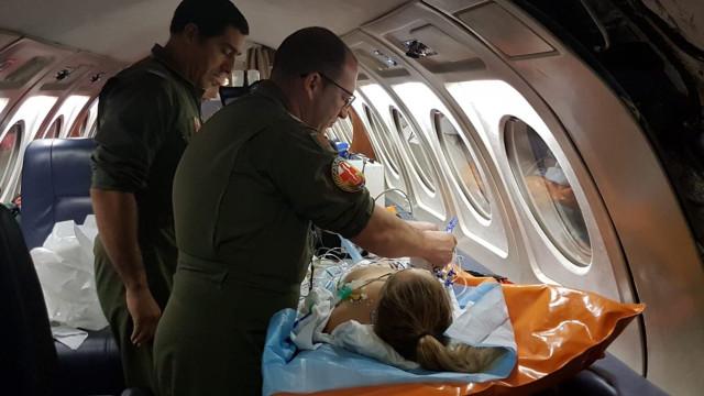 Criança com dificuldades cardiorespiratórias transportada para Lisboa