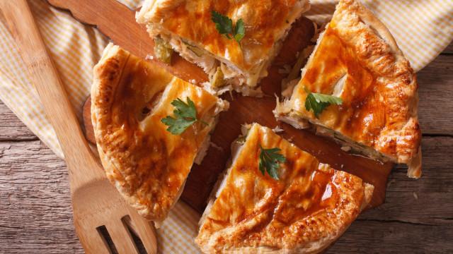 Faça esta tarte de abóbora com frango (com apenas três ingredientes)