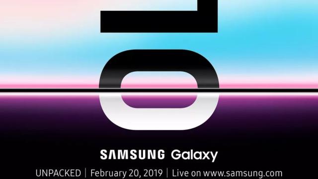 Samsung confirma quando revelará o Galaxy S10 e smartphone dobrável
