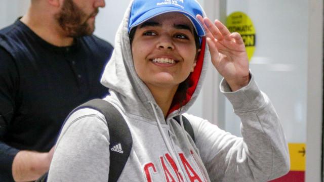 Jovem saudita que fugiu da família chegou ao Canadá