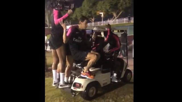 Jogadores do Paris Saint-Germain espalharam o 'terror' num campo de golfe