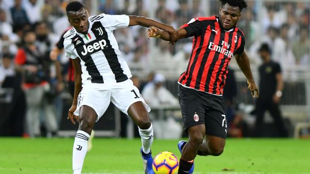 [0-0] Juventus-AC Milan: Intervalo na Supertaça italiana