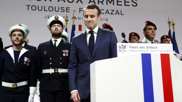 Síria: Emmanuel Macron reafirma compromisso de soldados franceses