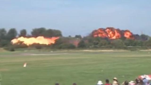 Reveladas imagens de avião que se despenhou em espectáculo de acrobacias