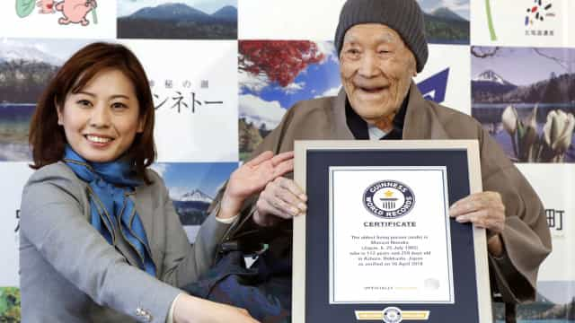 Homem mais velho do mundo morre aos 113 anos no Japão