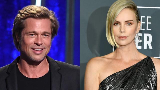 Troca de carinho em evento confirma namoro de Charlize Theron e Brad Pitt