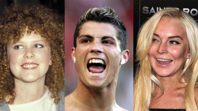 Lembra-se de como era o sorriso destes famosos?