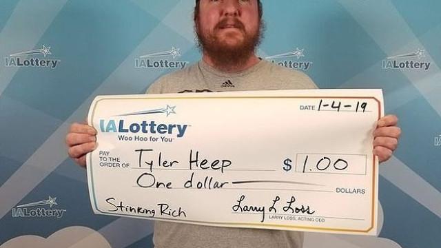 Ganhou um dólar na lotaria mas quis ser tratado como um milionário
