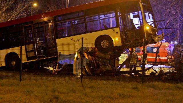O violento acidente de Matosinhos em imagens. Há dois mortos confirmados