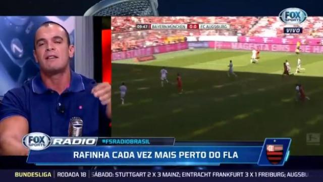 """Futuro de Rafinha gera discussão: """"Benfica ao pé do Flamengo não é nada"""""""