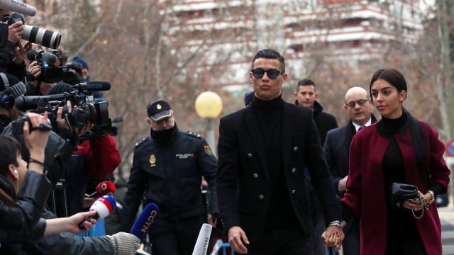 Cristiano Ronaldo já chegou ao Tribunal de Madrid