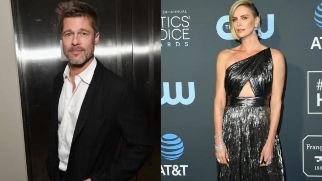 Brad Pitt e Charlize Theron num romance? Pode não ser bem assim