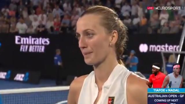 Arrepiante: Kvitova recordou o ataque que sofreu e desfez-se em lágrimas