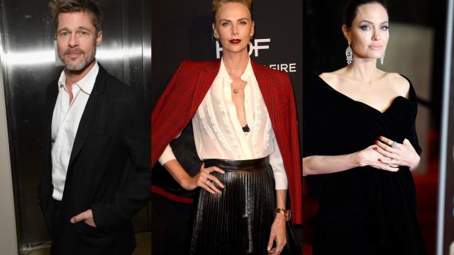 Rumores de Brad Pitt e Charlize Theron não agradaram a Angelina Jolie