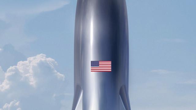 Ventos fortes derrubaram o novo foguetão da SpaceX